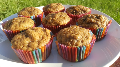 Side view of Earl Grey Banana Muffins